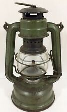 Vtg Old Iron Feuerhand #175 Superbaby Small Kerosene Lamp Lantern Green Germany