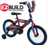 Marvel Bikes for Boys 16 Inch Huffy Spiderman Bicycle Bike Kid Child Blue Red