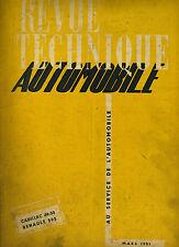 (C16) REVUE TECHNIQUE AUTOMOBILE RENAULT 505 / CADILLAC 1949-1950 / HYDRAMATIC