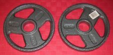 "WEIDER 2"" OLYMPIC 10 POUND GRIP WEIGHT PLATE WEIGHTS X2 20 POUNDS TOTAL NEW"