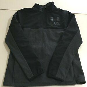 Under Armour Youth XL Loose Cold Gear 1/4 Zip Sweatshirt Pullover Grey