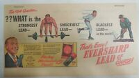 Eversharp Red Top Lead Ad: The $64 Question The Best Lead 1940's Size: 7 x 15 in