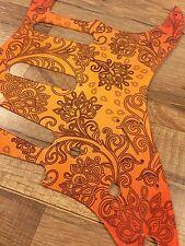 Custom Floral Paisley Orange Burst Pickguard fits Fender® Stratocaster® Strat®