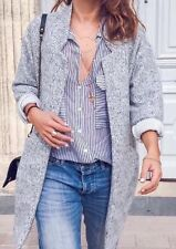 BNWT Zara Woman Grey Midi Coat Jacket Soft Cardigan Blogger Fav Sold Out Size S