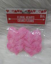 6 Valentines Floral Heart Sticker