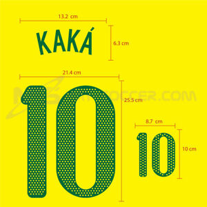 BRAZIL Home World Cup 2010 PU SOCCER FOOTBALL NAME NUMBER PRINT FREE SHIPPING