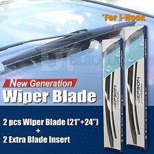 "All Season 24"" + 21"" Premium OEM Bracket-less Windshield Wiper Blades (2 Pieces)"