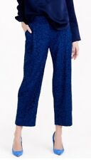 NWT JCREW $495 Collection cropped pant in French lace Size6 E6049 Admiral Blue
