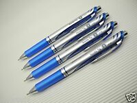 4pc NEW Pentel Retractable Ener Gel 0.3mm needle tip roller ball pen Blue(Japan