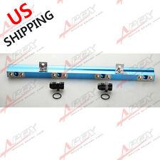 For Volvo 240, 740, 940 High Flow Cnc Billet Aluminum Alloy Fuel Rail Blue Us