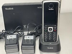 Yealink W52P DECT SIP Cordless Phone with Wall Base (Black)