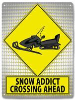 SNOWMOBILE Metal Sign joke snow addict funny room wall decor great gift 564