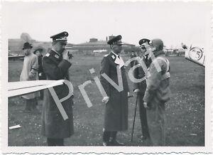 Foto WKII Wehrmacht Luftwaffe Flugzeuge Flugschau Offizier Oberwiesenfeld F1.59