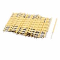 100pcs PL75-Q1 1.0mm Dia 33.3mm Length Metal Spring Pressure Test Probe Needle