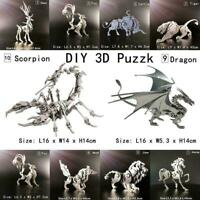 Stainless Steel 3D Animal Puzzle Assembly DIY Puzzle Gift Kids Model X3R2