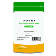 Green Tea 9000mg HIGH STRENGTH 60 Tablets (not capsules) - Nordhaus Supplements
