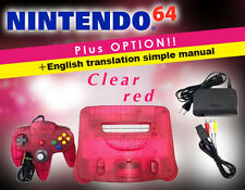 This is a very rare color! [You can play immediately!] NINTENDO 64/Clear red