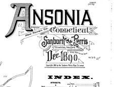 Ansonia, Connecticut~Sanborn Map© sheets made in 1890 with 13 maps on Cd