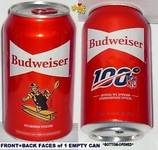 2019 Budweiser Beer Can Pittsburgh Steelers-Nfl>100 Football Sport Labatt Canada