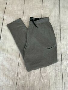 Nike Dir-Fit Men's Fleece Training Pants, Charcoal Heather, Size XL Tall