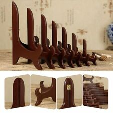 4-10'' Wooden Bracket Plate Holder Tea Tray Dish Rack Easels Display Stands Home
