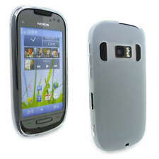 Clear Jelly Gel Case Cover for Nokia C7-00 + Screen Grd