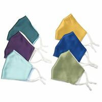 Reusable Double Layer Silk Breathable Mask Face Mouth Cover Washable Protective