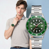 Fashion Men's Casual Watch  Steel Belt Watch Analog Quartz Wrist Watch Bracelet