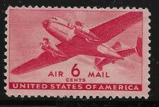 US Scott #C32, Single 1946 Air Mail 6c FVF MNH