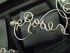 ROSE Wire Name Pin Handmade in the USA - Any Name Personalized STERLING SILVER