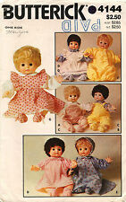1980's VTG Butterick Doll's Clothes Pattern 4144
