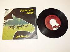 "JACK BASEHART ""FURIA NERO BLACK"" disco 45giri ATV Italy 1981 SIGLA TV"