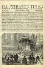 1858 Birmingham Townhall Corporation Address The Queen Fighting Cagliari