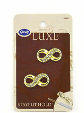 GOODY LUXE  STAYPUT HOLD JEAN WIRE HAIR BARRETTE - GOLD - 2 PCS. (02015-1)