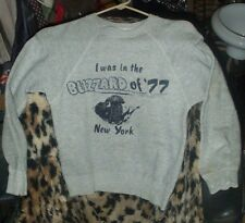 Vintage Spruce 86% cotton/10% poly/4% rayon blizzard of '77 sweat shirt-34/36 !