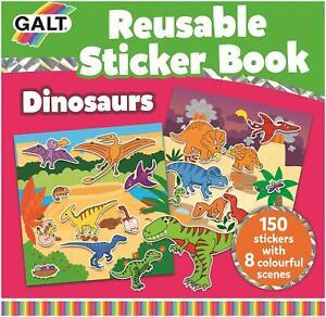 Galt REUSABLE STICKER BOOK - DINOSAURS Kids Activity Toy BN