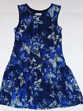 NWT JUSTICE GIRLS 7 BUTTERFLY DRESS LACE BLUE BUTTERFLIES