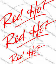 Classic Mini Red Hot Decal Pack Mini Cooper Classic 3 Decals