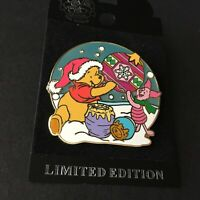 WDW Holiday Winnie the Pooh and Piglet Surprise Release LE 1000 Disney Pin 43451