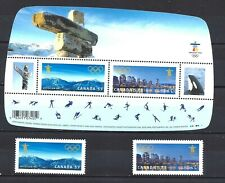 Canada VANCOUVER 2010 OLYMPIC GAMES SCOTT 2366, 2367i-2368i VF MINT NH(BS13979)