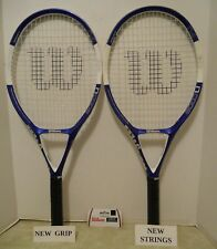 Wilson N Code N4 OS 111 Tennis Racquet Lot of 2 + NEW STRINGS / GRIPS + Covers