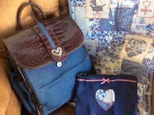 Western Brighton Denim and Leather Diaper Bag