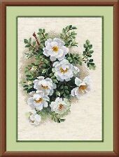 Counted Cross Stitch Kit RIOLIS - WHITE BRIAR