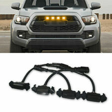 4x Raptor Style Amber Lens Grille Led Lights For 2016-2020 Toyota Tacoma TRD Pro