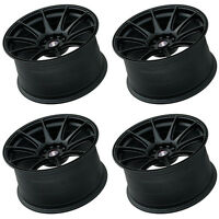 "XXR 527 17"" SPLIT SIZES 4x100/114 FLAT BLACK WIDE RIMS ALLOYS WHEELS Z1837/8"