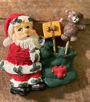 "Christmas Magnet 2.5"" - Santa With Gift Sack Bag And Presents - New"