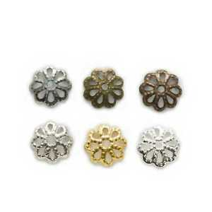 200 Piece Hollow Flower Spacer Beads Findings Jewelry Making Accessories 7-9mm