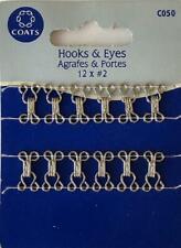 Coats Crafts - Hooks & Eyes - Silver - 12 x #2 - C050
