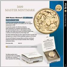 2009 AUST. $1 M.O.B MASTER MINTMARK WITH 'C' COUNTERSTAMP R.A.M. UNCIRC. RARE