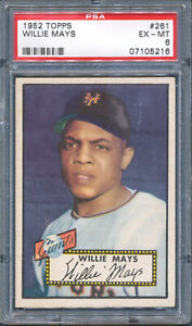 1952 Topps 261 Willie Mays PSA 6 Centered Free Shipping!